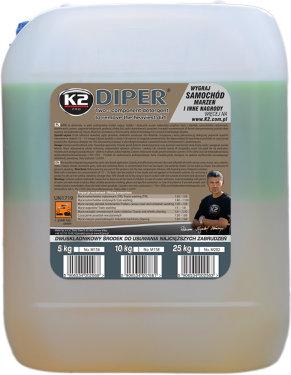 K2 DIPER Dwuskładnikowy środek do usuwania najcięższych zabrudzeń 10 KG