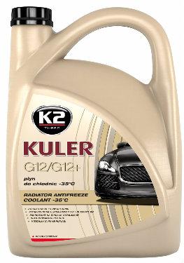 K2 KULER -35°C Czerwony Gotowy płyn do chłodnic 5 L