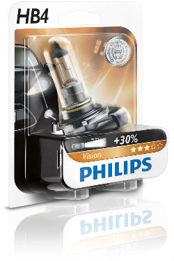 PHILIPS Żarówka samochodowa HB4 12V 55W P22d Vision +30%