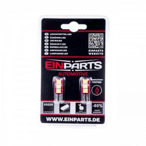 EinParts Automotive Żarówka Diody LED W5W T10 3SMD 5050 CANBUS - 2 SZT EPL36