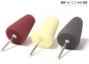 Evoxa zestaw stożków polerskich na trzpieniu 3mm 3szt