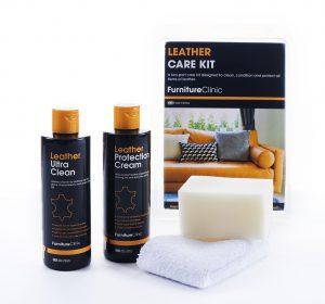 Furniture Clinic Leather Care Kit - Zestaw do pielęgnacji i konserwacji skóry