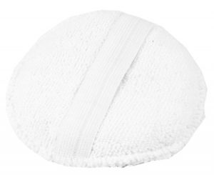 MONSTER SHINE White Round aplikator z mikrofibry z gumką