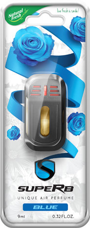 NATURAL FRESH Superb Żelowy Odświeżacz samochodowy Zapach Blue