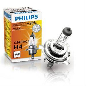 PHILIPS Żarówka samochodowa H-4 12V 60/55W P43t-38 Vision +30%