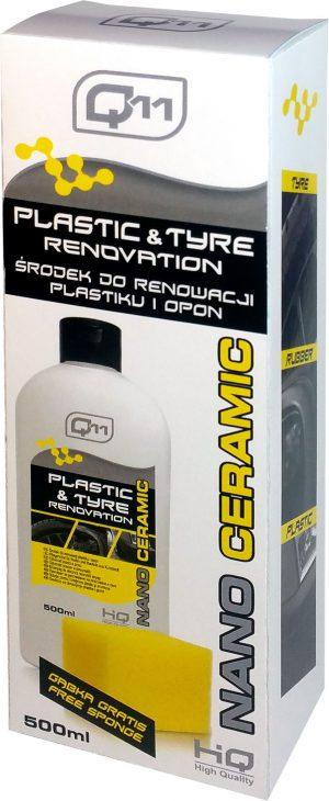 Q11 Nano Ceramic Środek do renowacji plastików i opon 500ml