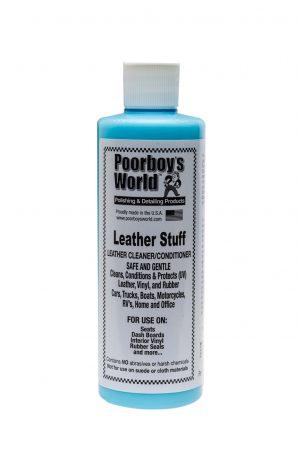Poorboy's World Leather Stuff Czyści i odżywia skórę 473ml