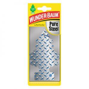WUNDER-BAUM Drzewko zapachowe, odświeżacz samochodowy - Zapach Pure Steel