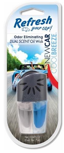 REFRESH Olejek 2 zapachy - New Car / Cool Breeze