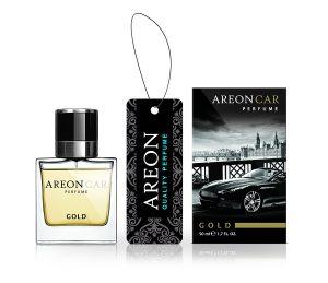 AREON Car Perfume Glass Zapach Gold 50ml