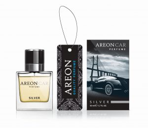 AREON Car Perfume Glass Zapach Silver 50ml