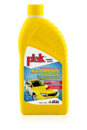 Plak AUTOBELLA Lavaincera Szampon samochodowy z woskiem nabłyszczający 1L