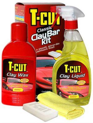 CARPLAN T-Cut Classic Clay Bar Kit Zestaw z glinką do oczyszczania lakieru