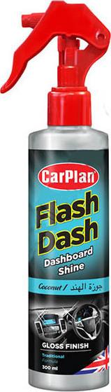 CARPLAN Flash Dash Gloss Finish Pump Spray Preparat do czyszczenia kokpitu - Połysk - Atomizer Kokos (FCN300)