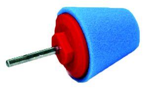 Honey Combination Cone Gąbka Polerska stożek polerski niebieski twardy duży trzpień 80mm