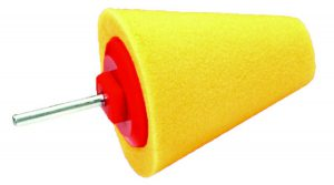 Honey Combination Cone Gąbka Polerska stożek polerski żółty duży miękki trzpień 80mm