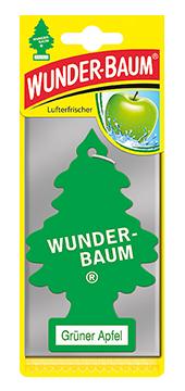 WUNDER-BAUM Drzewko zapachowe, odświeżacz samochodowy - Zapach Zielone Jabłuszko