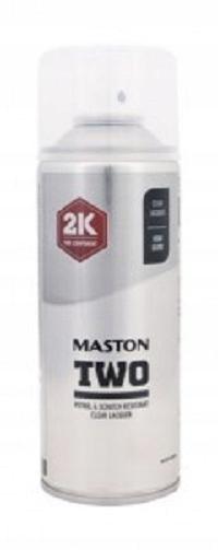 MASTON Two 2K Spray Lakier Bezbarwny Połysk 400ml
