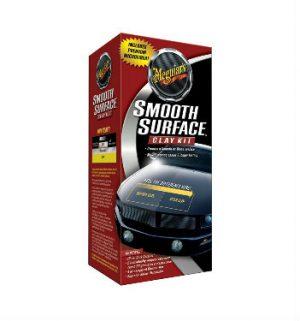 MEGUIAR'S Smooth Surface Clay Kit Zestaw do czyszczenia i pielęgnacji lakieru (473ml + glinka)
