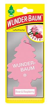 WUNDER-BAUM Drzewko zapachowe, odświeżacz samochodowy zapach Rose & Raspberry