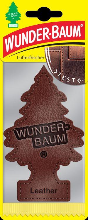 WUNDER-BAUM Drzewko zapachowe, odświeżacz samochodowy - Zapach Skóra