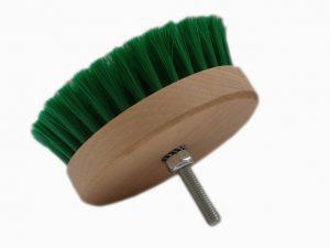 Carpet Brush Szczotka do tapicerki okrągła na wiertarkę miękka (zielona)
