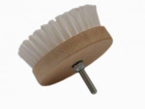 Carpet Brush Medium Szczotka do tapicerki okrągła na wiertarkę średnia (biała)