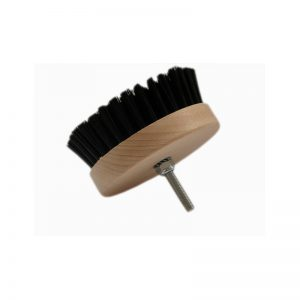 Carpet Brush Hard Szczotka do tapicerki okrągła na wiertarkę twarda (czarna)