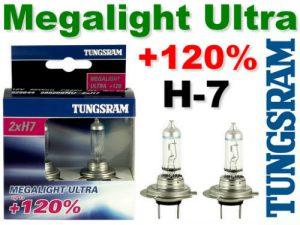 TUNGSRAM Żarówka samochodowa H-7 12V 55W PX26D MEGALIGHT ULTRA +120%