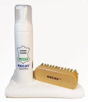 KECAV Leather Cleaner LIGHT KIT Zestaw do czyszczenia skóry